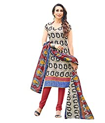 Fashiondiya SIYA Karishma from SIYARAM Pure Cotton Printed Dress Material Cotton Dupatta