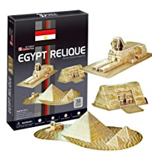 3D立体パズル ピラミッド、スフィンクス、アブシンベル神殿