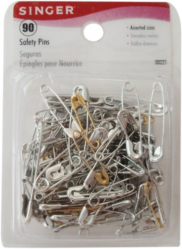 Singer Safety Pins Brass/Steel-Size 00-2 90/Pkg