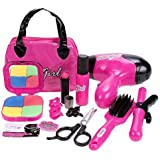 Arshiner Pretend Makeup Essential First Beauty Bag Set Toys Great for Little Girl Kids