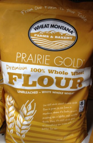 Wheat Montana Prairie Gold Premium 100% Whole Wheat Flour / 5lb., 2.27kg.