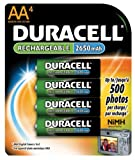 Rechargeable NiMH Batteries with Duralock Power Preserve Technology, AA, 4/Pack, Sold as One Pack