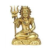 Redbag Lord Shiv Shankar Brass Statue ( 14.61 Cm, 11.43 Cm, 6.35 Cm )