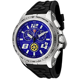 Mens 80040-03 Sprint Racer Collection Chronograph Black Rubber Watch