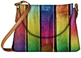 Snoogg Colourful woods Womens Carry Around Sling Bags