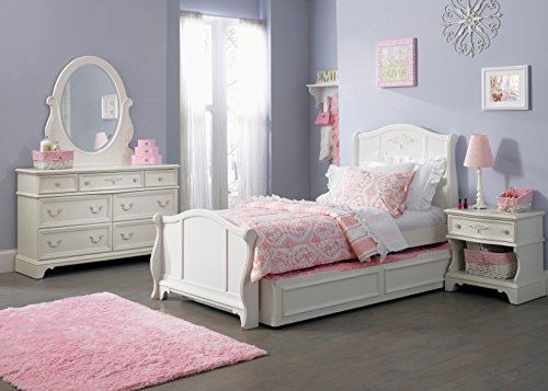 Liberty Furniture Arielle 4 Piece Panel With Trundle Bedroom Set In Antique White front-655046