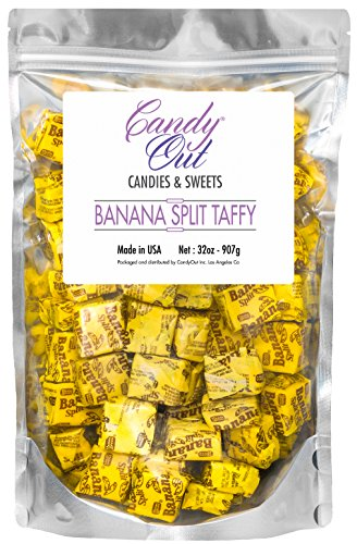 Candyout - Banana Split Candy 2lb - 32oz in Sealed Stand Up Pouch Bag (Banana Split Candy compare prices)