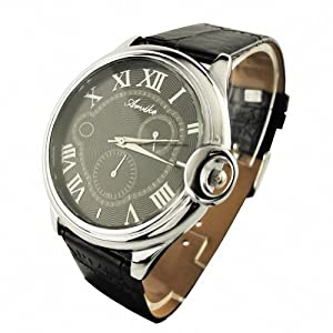 Youyoupifa Fashion Roman Number Stainless Steel Quartz Wrist Watch NBW0FA6137-BL1