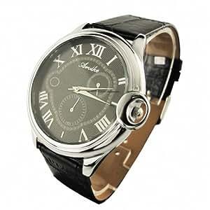 Youyoupifa Fashion Roman Number Stainless Steel Quartz Wrist Watch NBW0FA6137-BL1