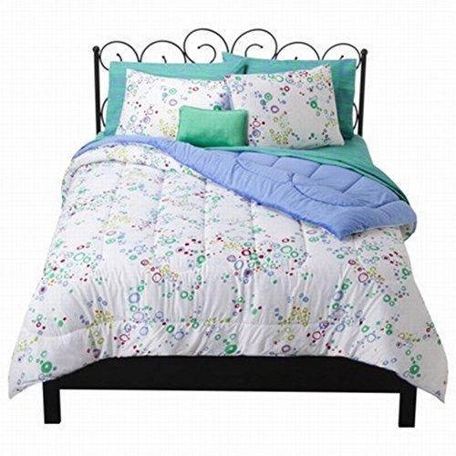 Xhilaration Full Bed In Bag Blue Bubble Dot Comforter Sheets Shams & Pillow front-723443