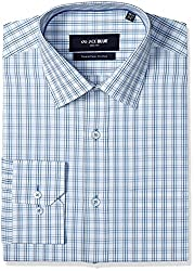 Jadeblue Men's Formal Shirt (1116203941PZJ2_41PZ_38_White and Blue)