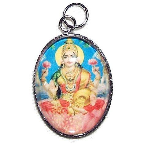 lakshmi-charm-pendant-goddess-of-wealth-fortune-prosperity-silver-pltd-glass-covered
