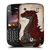 Head Case Designs Red-scaled Dragons Protective Snap-on Hard Back Case Cover for BlackBerry Bold Touch 9900