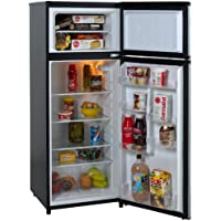 Avanti RA7316PST 7.4 CF Two Door Apartment Size Refrigerator (Black with Platinum Finish) + $33.90 Sears Credit