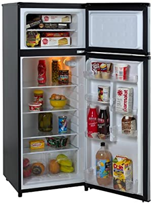 Avanti RA7316PST 2-Door Apartment Size Refrigerator, Black