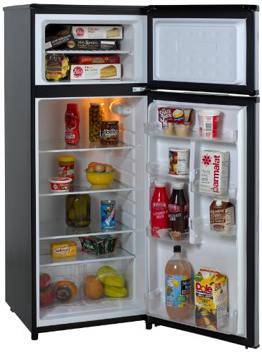 Avanti Ra7316Pst 2-Door Apartment Size Refrigerator, Black With Platinum Finish front-7328