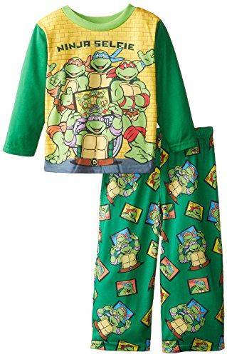 Teenage Mutant Ninja Turtles Little Boys' Ninja Selfie 2-Piece Pajama Set, Green, 3T (Ninja Turtles Pajamas Set compare prices)