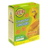 Earth's Best Organic Sesame Street Crunchin' Crackers, Cheddar, 5.3-Ounce Boxes (Pack of 6)