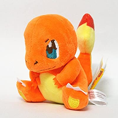 """Generic Mega Charmander Plush Toys Stuffed Doll With Badges Yellow 4.5"""" from Generic"""