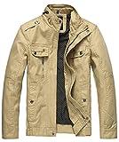 Wantdo メンズ アウター ジャケット スタンドカラー 美シルエット ショート丈 スウェット ファッション 服