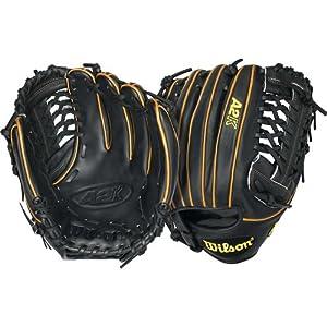 """Wilson A2K Pitcher Baseball Golve (Black/Tan), Left Hand Throw, 12"""""""