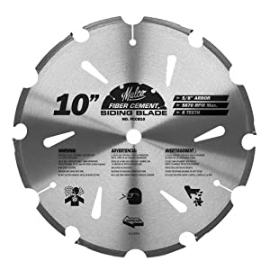 Malco FCCB10 10-Inch 6 Tooth Fiber Cement Saw Blade with 5/8-Inch Arbor