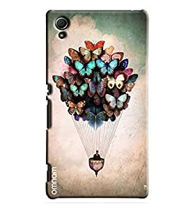 Omnam Person Flying With Butterfly Beautifully Created Printed Designer Back Cover Case For Sony Xperia Z4