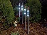 Gardman Garden Stainless Steel Solar Post Lights - Set of 4