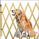 Hundeabsperrgitter Hundeabsperrung Treppenschutzgitter Türgitter Schutzgitter Barrieren Holz 85 x 108 cm