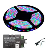Iplay Self Adhesive Water Proof SMD Strip LED Light In Red,Green,Blue(RGB) Colour With LED Driver & Power Cord...