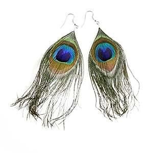Boucles d'oreilles plumes de paon. Par KurtzyTM