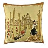 NAVA New Italy Venetian Boat Gondola Girl Art Decorative Pillow Case Cushion Cover Shams