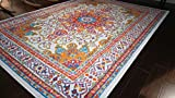 Generations pre8023White_6x8 Oriental Traditional Isfahan Persian Area Rug,...