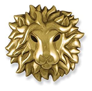 Michael Healy Designs MH1531 Regal Lion Door Knocker, Brass