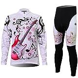 iisport Damen Farradkleidung Sportbekleidung Set Gitarre Langarm Trikot Anzug Abnutzung