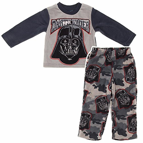 Star Wars Little Boys' Darth Vader Fleece Pajamas 6 back-737425