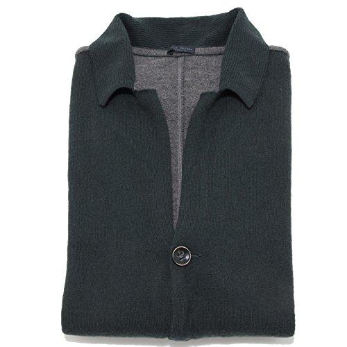 56144 cardigan verde PAOLA PECORA maglione maglia uomo sweater men [XL]