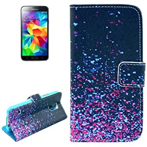 Crazy4Gadget Starry Pattern Leather Case with Card Slots & Holder for Samsung Galaxy S5 / G900