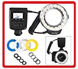 BiG DIGITAL 18 Ultra Bright SMD Led Ring Light & Flash for Macro & Close-up Photography (Clear - Warming - Blue - White Diffusers) For Canon Fuji - Fujifilm - Nikon - Panasonic - Pentax - Olympus - Samsung - Sony (With the new Multi-Interface MI Hot Shoe) Digital SLR Cameras -- Carl Zeiss - Sigma - Tamron - Tokina - Lenses (Includes Rings For 49mm - 52mm - 55mm - 58mm - 62mm - 67mm - 72mm - 77mm Lens Thread)