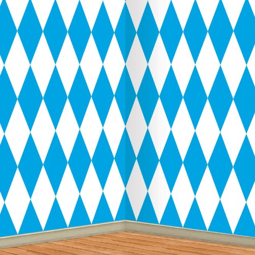 Beistle 52084 Oktoberfest Backdrop, 4-Feet by 30-Feet