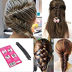 LKE 3pcs lot Women Fashion Hair Styling Clip Hair Braider Twist Styling Braid Tool Magic Wonder Holder Clip DIY French