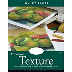 Strathmore 597010 80-Pound 25-Sheet Strathmore Inkjet Paper Texture, 8.5 by 11-Inch