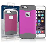 Tech Armor Active Sport Series Case for Apple iPhone 6 Plus/6s Plus (Pink-Cool Grey)