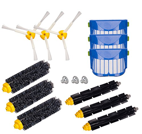 I-clean Replacement Roomba Vacuum Cleaning Accessories for Roomba 770, 780, 650, 790, Bristle & Flexible Beater Brushes& 3-Armed Brushes &Aero Vac Filters Kits (Roomba Brush Pet compare prices)