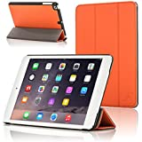 Forefront Cases Leather Case Cover/Stand with Magnetic Auto Sleep Wake Function for Apple iPad Mini - Orange