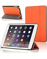 ForeFront Cases® - Étui en cuir synthétique avec support pour iPad Mini - mise en veille automatique par fermeture magnétique pour Apple iPad Mini - ORANGE