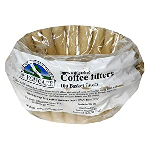 If You Care 8-Inch Basket Filters in Poly Bag, 100-Count Packages (Pack of 24)