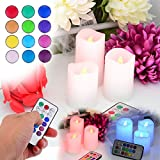 Alcoa Prime Hot Romantic 3Pcs Candle Wireless Remote Control Candle Operated Led Flameless Candles Bougie Light...