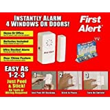 As Seen On TV - First Alert Alarm Set - Instantly Alarm 4 Windows or Doors.