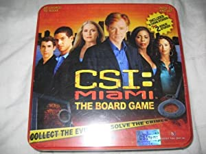 CSI Miami the Board Game in Collectible Tin